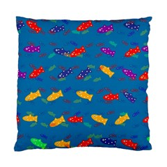 Fish Blue Background Pattern Texture Standard Cushion Case (two Sides)
