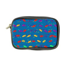 Fish Blue Background Pattern Texture Coin Purse