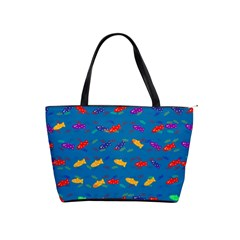 Fish Blue Background Pattern Texture Shoulder Handbags