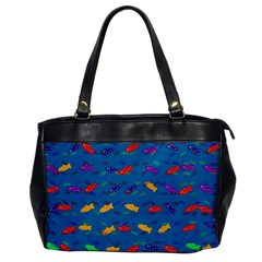 Fish Blue Background Pattern Texture Office Handbags