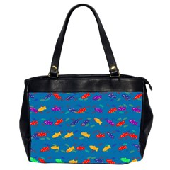 Fish Blue Background Pattern Texture Office Handbags (2 Sides)
