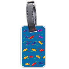 Fish Blue Background Pattern Texture Luggage Tags (two Sides)