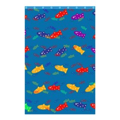 Fish Blue Background Pattern Texture Shower Curtain 48  X 72  (small)