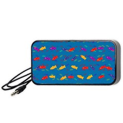 Fish Blue Background Pattern Texture Portable Speaker