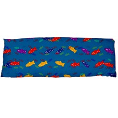 Fish Blue Background Pattern Texture Body Pillow Case Dakimakura (two Sides)