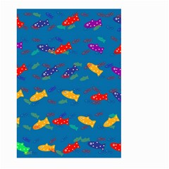 Fish Blue Background Pattern Texture Large Garden Flag (two Sides)