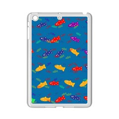 Fish Blue Background Pattern Texture Ipad Mini 2 Enamel Coated Cases