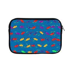 Fish Blue Background Pattern Texture Apple Ipad Mini Zipper Cases