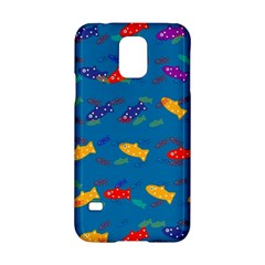 Fish Blue Background Pattern Texture Samsung Galaxy S5 Hardshell Case