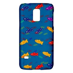 Fish Blue Background Pattern Texture Galaxy S5 Mini