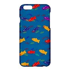 Fish Blue Background Pattern Texture Apple Iphone 6 Plus/6s Plus Hardshell Case