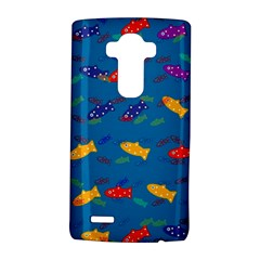Fish Blue Background Pattern Texture Lg G4 Hardshell Case