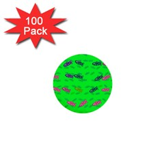 Fish Aquarium Underwater World 1  Mini Buttons (100 Pack)