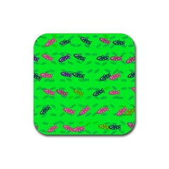 Fish Aquarium Underwater World Rubber Square Coaster (4 Pack)