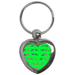 Fish Aquarium Underwater World Key Chains (heart)  by Nexatart
