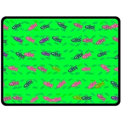 Fish Aquarium Underwater World Double Sided Fleece Blanket (large)