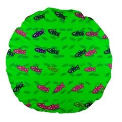 Fish Aquarium Underwater World Large 18  Premium Flano Round Cushions