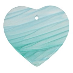 Texture Seawall Ink Wall Painting Ornament (heart)