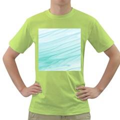 Texture Seawall Ink Wall Painting Green T Shirt