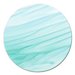 Texture Seawall Ink Wall Painting Magnet 5  (round)