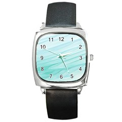 Texture Seawall Ink Wall Painting Square Metal Watch by Nexatart