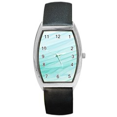 Texture Seawall Ink Wall Painting Barrel Style Metal Watch