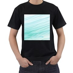 Texture Seawall Ink Wall Painting Men s T Shirt (black) (two Sided)