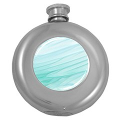 Texture Seawall Ink Wall Painting Round Hip Flask (5 Oz)