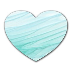 Texture Seawall Ink Wall Painting Heart Mousepads