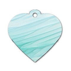 Texture Seawall Ink Wall Painting Dog Tag Heart (one Side)