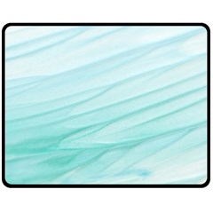 Texture Seawall Ink Wall Painting Fleece Blanket (medium)