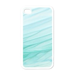 Texture Seawall Ink Wall Painting Apple Iphone 4 Case (white)