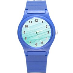 Texture Seawall Ink Wall Painting Round Plastic Sport Watch (s)