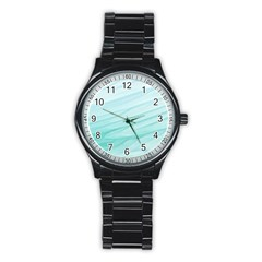 Texture Seawall Ink Wall Painting Stainless Steel Round Watch