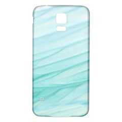 Texture Seawall Ink Wall Painting Samsung Galaxy S5 Back Case (white)