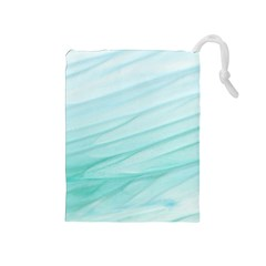 Texture Seawall Ink Wall Painting Drawstring Pouches (medium)