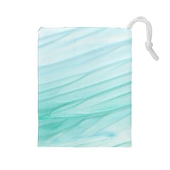 Texture Seawall Ink Wall Painting Drawstring Pouches (large)