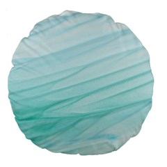 Texture Seawall Ink Wall Painting Large 18  Premium Flano Round Cushions