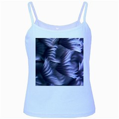 Sea Worm Under Water Abstract Baby Blue Spaghetti Tank