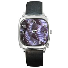 Sea Worm Under Water Abstract Square Metal Watch