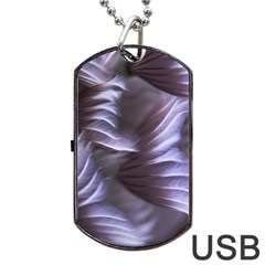 Sea Worm Under Water Abstract Dog Tag Usb Flash (one Side)