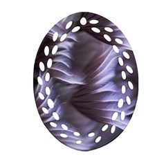 Sea Worm Under Water Abstract Ornament (oval Filigree)