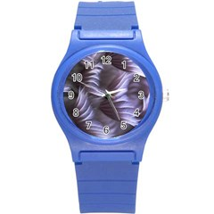 Sea Worm Under Water Abstract Round Plastic Sport Watch (s)