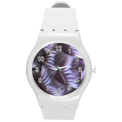 Sea Worm Under Water Abstract Round Plastic Sport Watch (m)