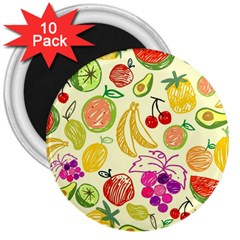 Seamless Pattern Desktop Decoration 3  Magnets (10 Pack)
