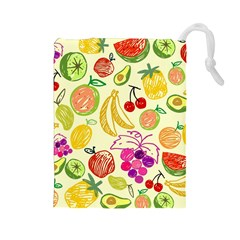 Seamless Pattern Desktop Decoration Drawstring Pouches (large)