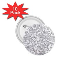 Ornament Vector Retro 1 75  Buttons (10 Pack)