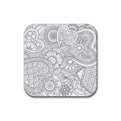 Ornament Vector Retro Rubber Coaster (square)