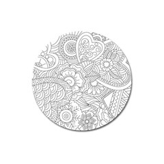 Ornament Vector Retro Magnet 3  (round) by Nexatart
