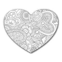 Ornament Vector Retro Heart Mousepads
